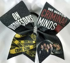 Criminal Minds Glitter Cheer Bow