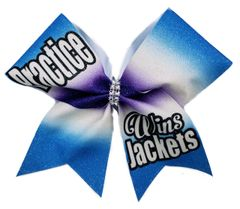 Practice Wins Jackets Cheer Bow