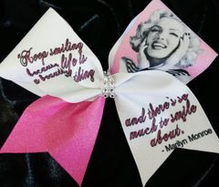 Marilyn Monroe Keep Smiling Cheer Bow