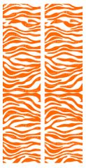 Zebra Orange White Cheer Bow Ready to Press Sublimation Graphic