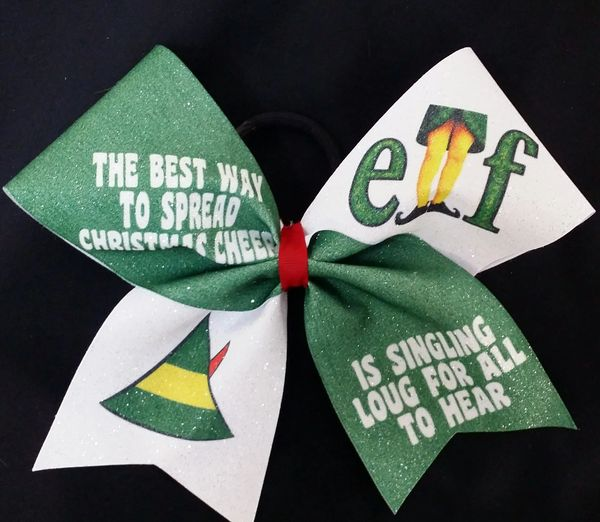 elf the best way to spread christmas cheer bow