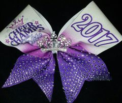 Cheer Champs Rhinestone Tiara 2017 Cheer Bow