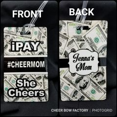 iPay She Cheers #cheermom or #cheerdad Bag Tag