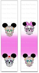 Sugar Skulls Mickey Ready to Press Sublimation Graphic