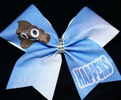 Poop Happens Emoji Cheer Bow
