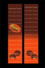 Reeses Peanut Butter Cups Cheer Bow Ready to Press Sublimation Graphic