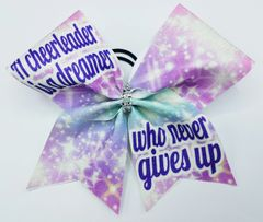 A Cheerleader is a Dreamer Who Never Gives Up Cheer Bow