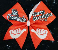 The Cheerleader Gets Straight A's Cheer Bow
