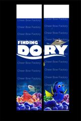 Finding Dory Cheer Bow Ready to Press Sublimation Graphic