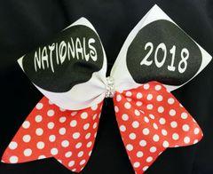 Nationals 2018 Glitter Ribbon Bow