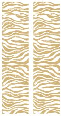 Zebra Gold White Cheer Bow Ready to Press Sublimation Graphic