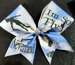 I'm So Fly I Neverland Glitter Cheer Bow