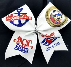 Disney Cruise Personalized Glitter Cheer Bow