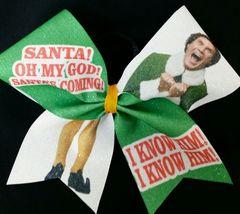 Santa! I Know him! Elf Cheer Bow