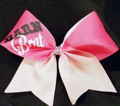 Barn Brat Equestrian Ribbon Bow