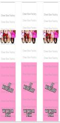 On Wednesdays We Wear Pink Keychain Sublimation Cheer Bow Graphic