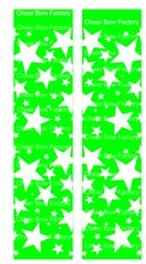 Stars Lime Cheer Bow Ready to Press Sublimation Graphic