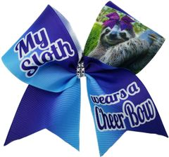 My Sloth Wears a Cheer Bow Cheer Bow