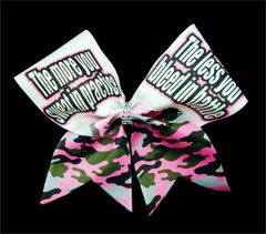 The more you sweat in practice the less you bleed in battle Cheer Bow