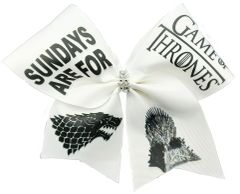 Sundays are for Game of Thrones Cheer Bow