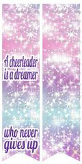 A Cheerleader is a Dreamer Who Never Gives Up Ready to Press Sublimation Graphic