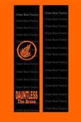 Dauntless Cheer Bow Ready to Press Sublimation Graphic