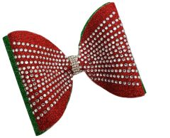 Holiday Dolly Rhinestone Tailless Cheer Bow