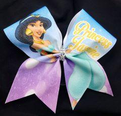 Princess Jasmine Glitter Cheer Bow