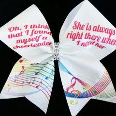 Cheerleader Song Cheer Bow