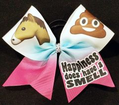 Happiness Does Have A Smell Equestrian Ribbon Bow