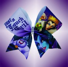 Just a Touch of Evil Disney Villains Glitter Cheer Bow