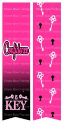 Confidence is Key Sublimation Cheer Bow Graphic