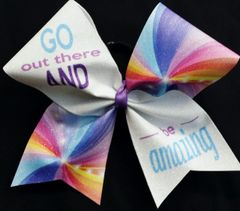 Go Out There and BE Amazing Cheer Bow