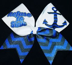 Refuse To Sink Cheer Bow