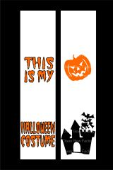 This is my Halloween Costume Cheer Bow Ready to Press Sublimation Graphic