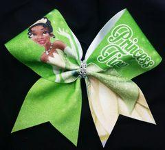 Princess Tiana Glitter Cheer Bow