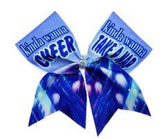kinda wanna cheer kinda wanna take a nap Glitter Vinyl Cheer Bow