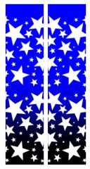 Stars Ombre Royal Black Cheer Bow Ready to Press Sublimation Graphic
