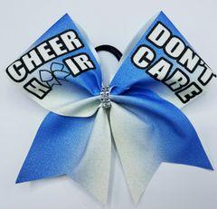 Cheer Hair Don't Care Cheer Bow