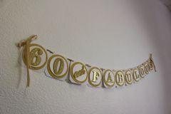 Gold 60 & Fabulous Banner