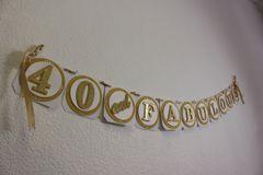 Gold 40 & Fabulous Banner