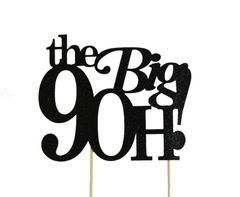 Black The Big 9OH! Cake Topper