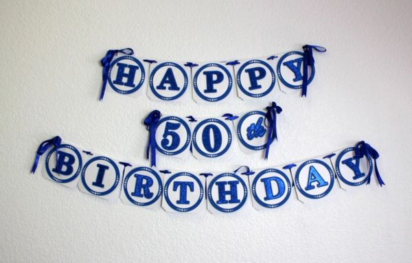 Blue happy 50th birthday banner all about details blue happy 50th birthday banner publicscrutiny Images