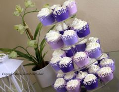 Purple Ombre Fifty Cupcake Wrappers Kit
