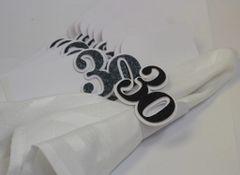 Black 30 Napkin Holders, 12pcs