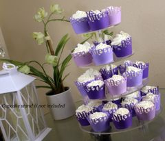 Purple Ombre Fifteen Cupcake Wrappers Kit