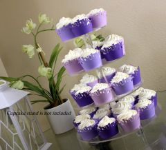 Purple Ombre Baby Cupcake Wrappers Kit