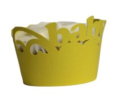 Yellow Daisy Baby Cupcake Wrappers