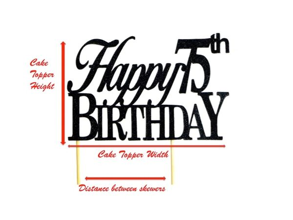 Purple Happy 75th Birthday Cake Topper