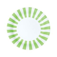 Stripes Paper Plates Apple Green 12pc